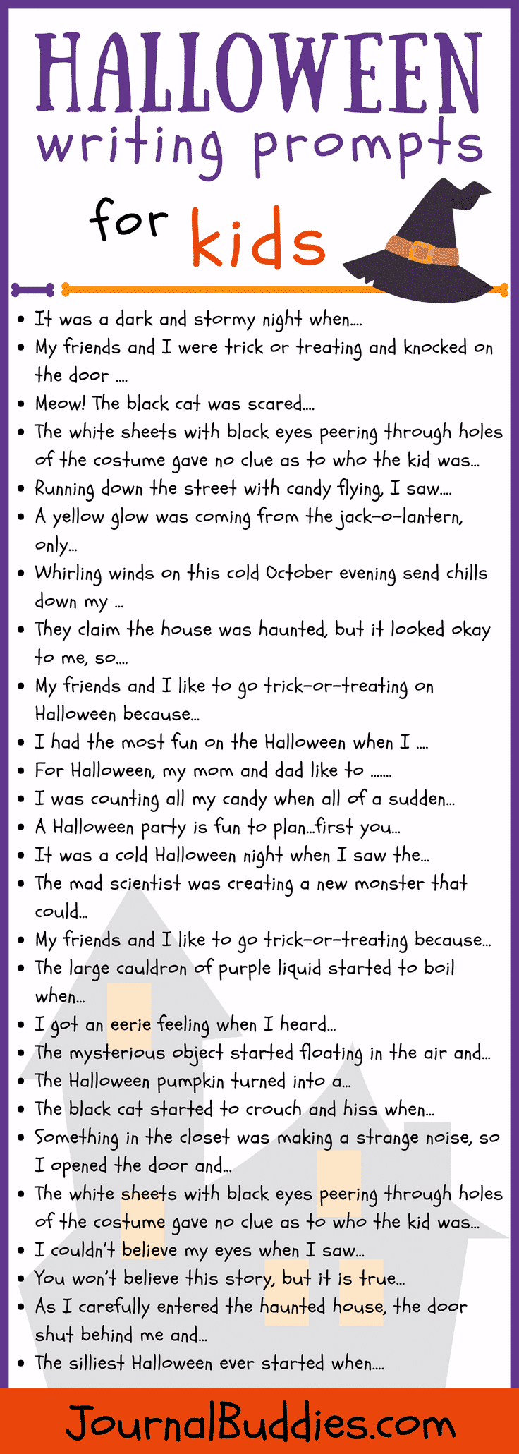 27 Halloween Writing Prompts for Kids • JournalBuddies com
