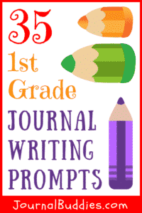 Writing can improve grammar and spelling. Use these fun and easy journal writing prompts for 1st grade students to improve their writing and reading skills!