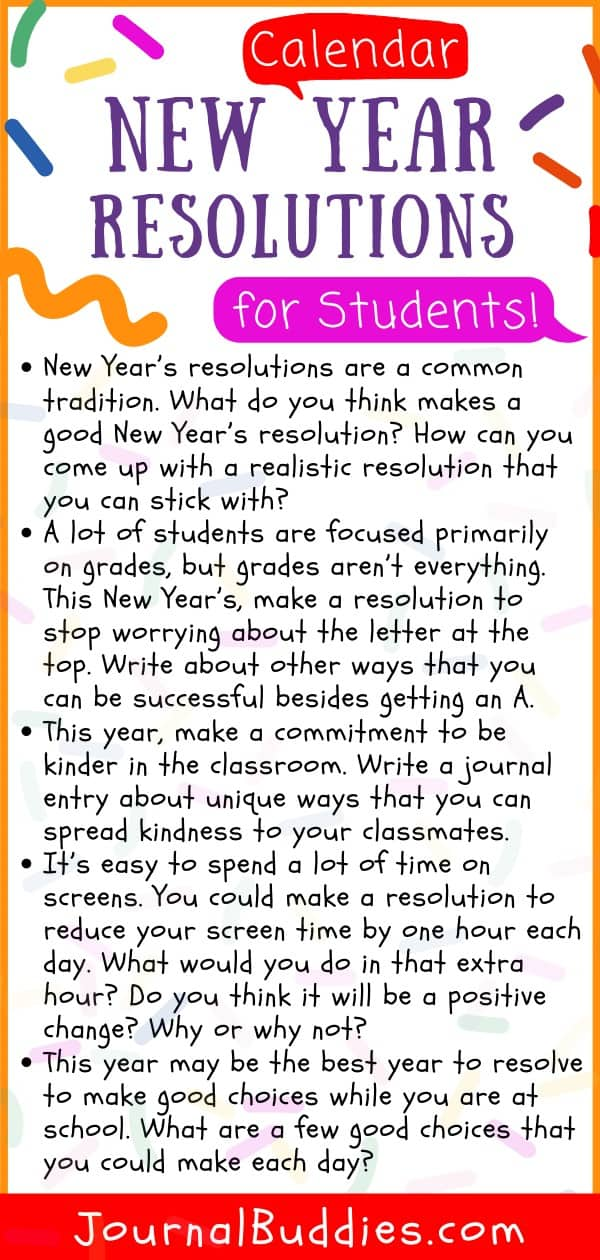 Students' New Year Resolutions