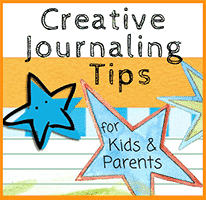 There are infinite ways for you and your child to dress up a journal and integrate creative expression into your journal keeping experiences.