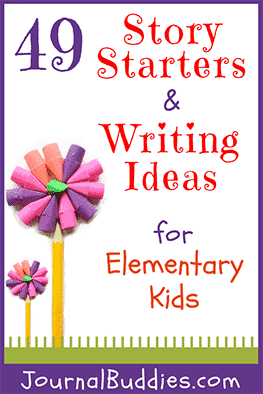 This list of writing ideas, journal prompts, and story starting ideas for elementary age students will really get their creative juices flowing!