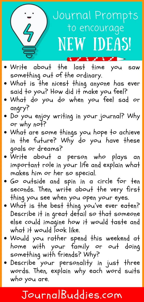 Journal Prompts for New Ideas
