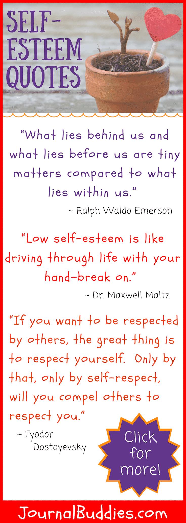 Self Esteem Quotes Journalbuddiescom