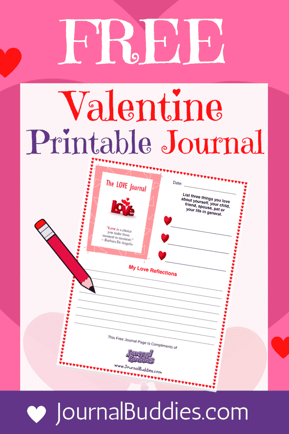 Free Valentine's Printable Journal Page