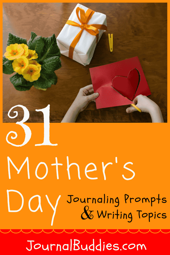 "A fantastic gift idea for moms is to keep a ""Mom Journal"". Simply choose your favorite journaling prompts and topics from this innovative, creative, and fun listing of 31 journaling prompts and ideas."