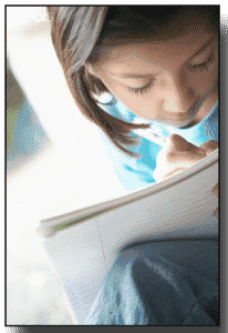 PreTeen Girl Journal Writing