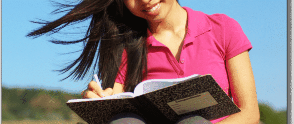 Journal Writing Girl