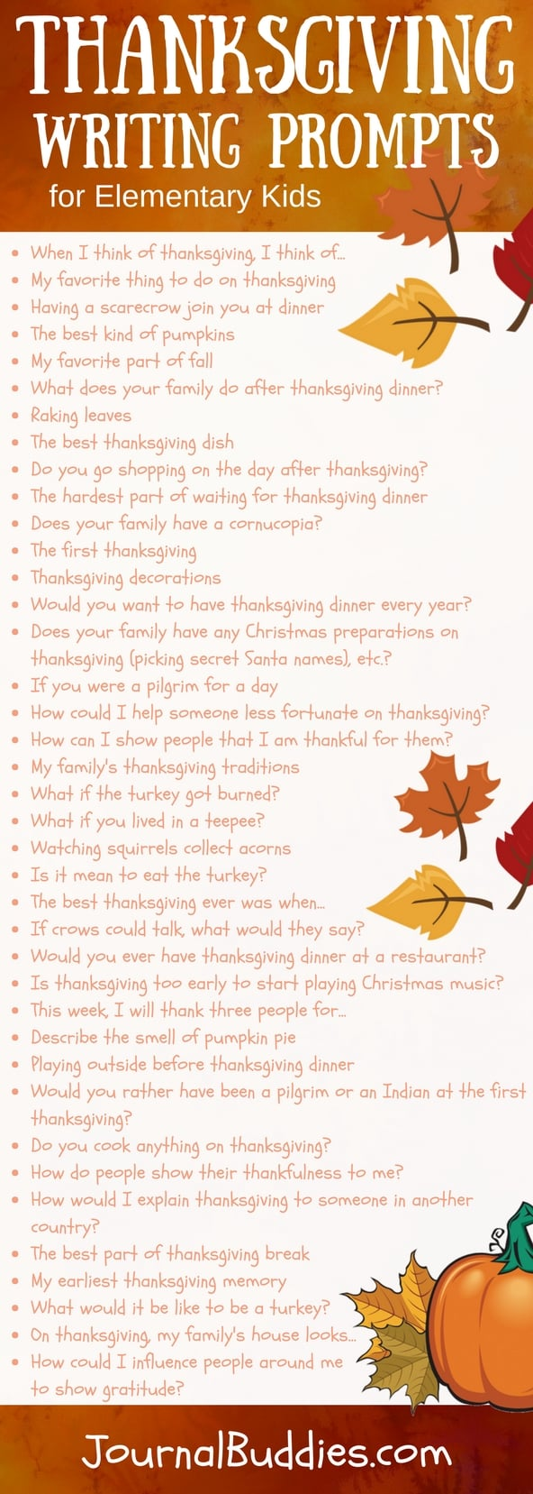 Look at these 78 writing ideas for Elementary students! Treat your kids to these fun Thanksgiving writing ideas and encourage them to get extra creative with these exciting writing starters!