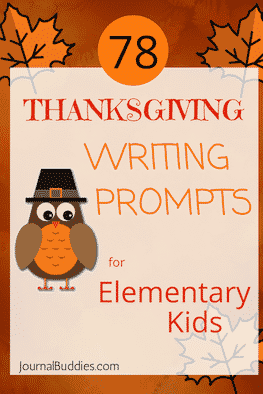 Elementary Writing Thanks Giving Writing Prompts for Kids