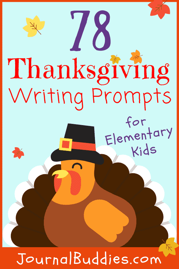 Thanksgiving Themed Writing Prompts for Elementary School Students