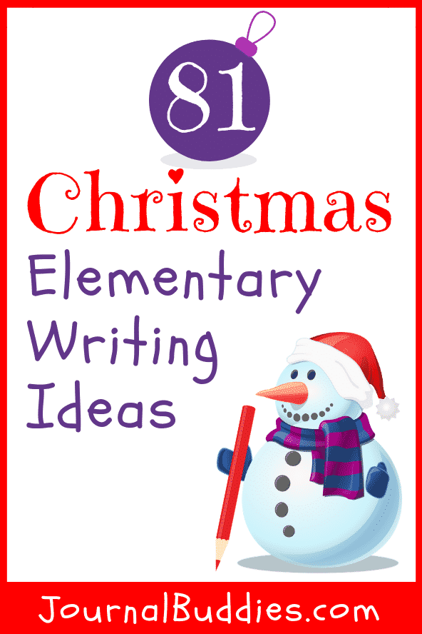 Elementary Christmas Writing Ideas and Journal Prompts for Students