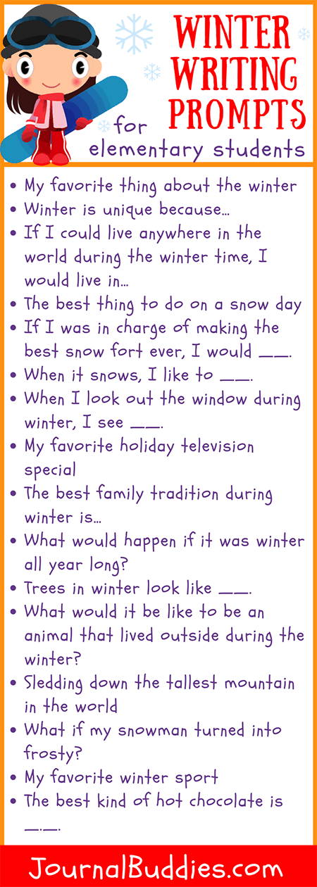 Use these writing prompts to encourage kids to get creative while they come up with engaging and unique new ways to celebrate the winter months.