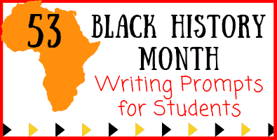 Black History Month Writing Ideas