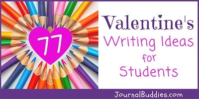 Valentine's Day Journal Promtps for Kids