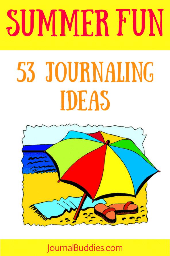 53 Summer Fun Journaling Ideas for Kids