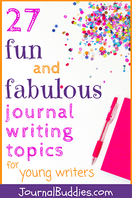 With this fun, imaginative list of writing ideas there is much to explore and to write about in your favorite journal book.