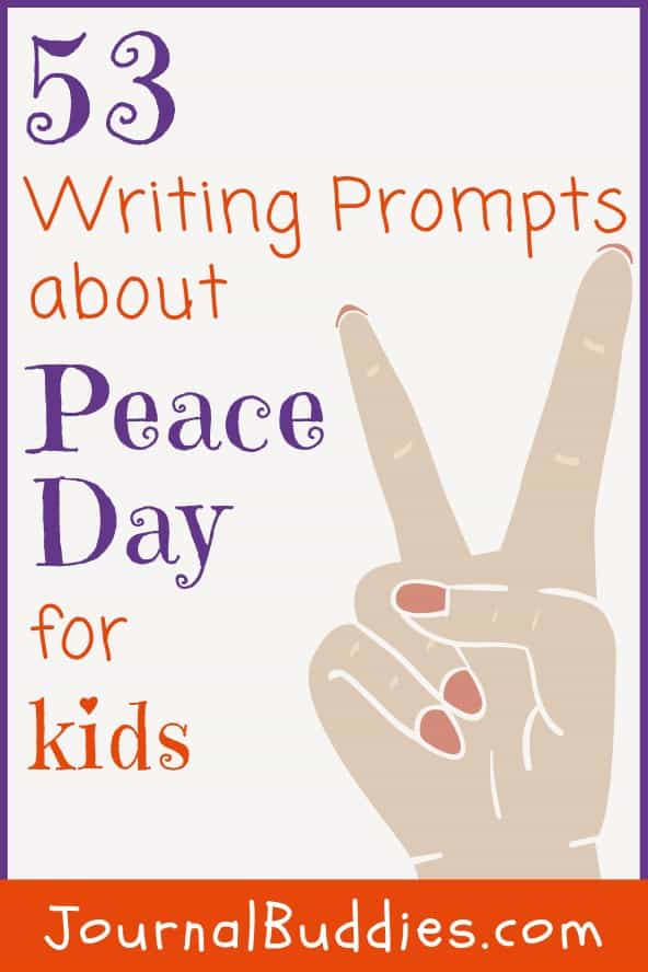 Writing Prompts for Kids about Peace Day