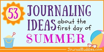 First Day of Summer Journal Writing Prompts for Kids