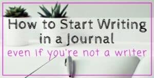 How to Start Journal Writing