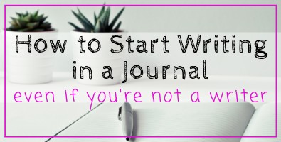How to Start Journal Writing