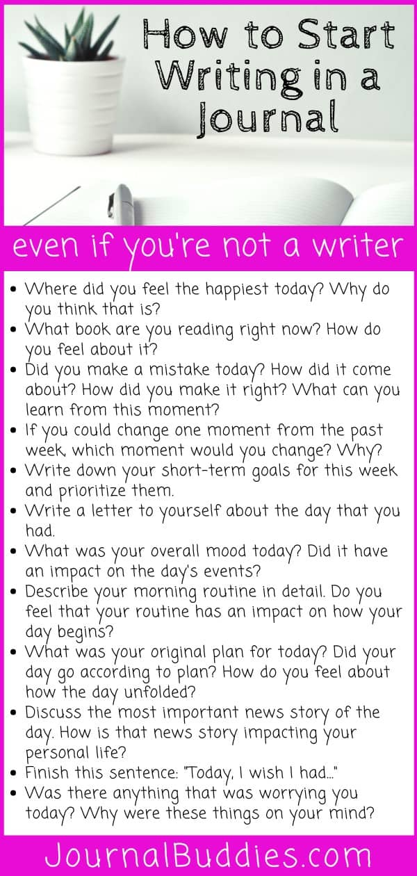 How to Start Writing in a Journal Prmopts and Tips