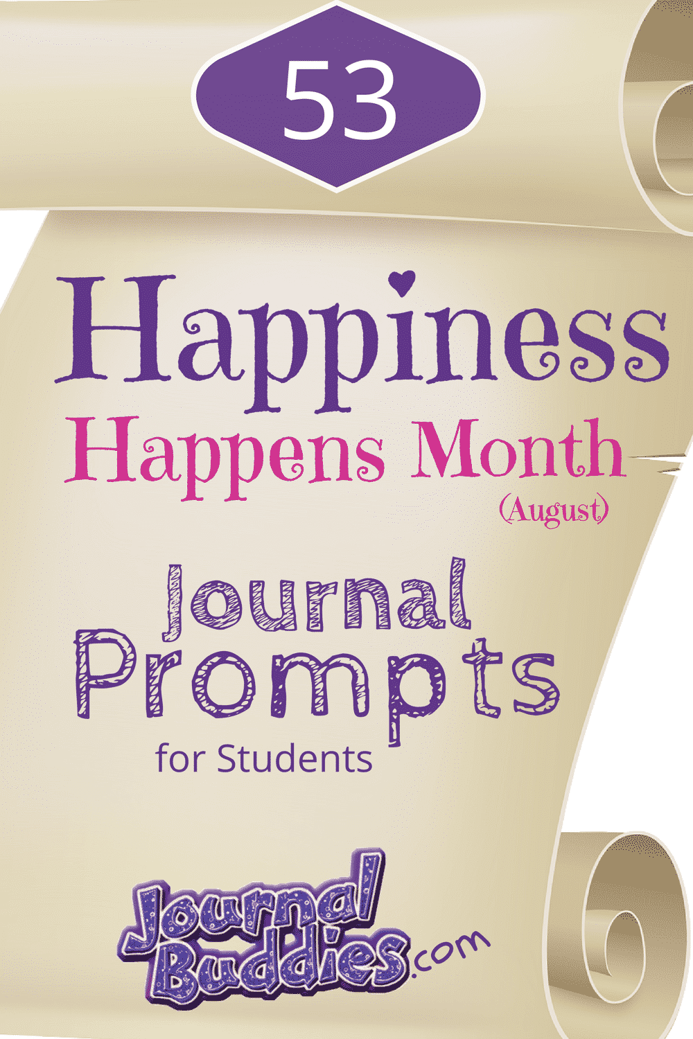 Happiness Happens Month is a time for people to celebrate all the good things in their lives. Help your students come together in recognizing just how happy they are with these journal prompts!