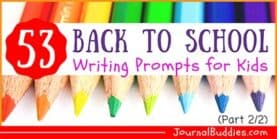 53 Back to School Prompts
