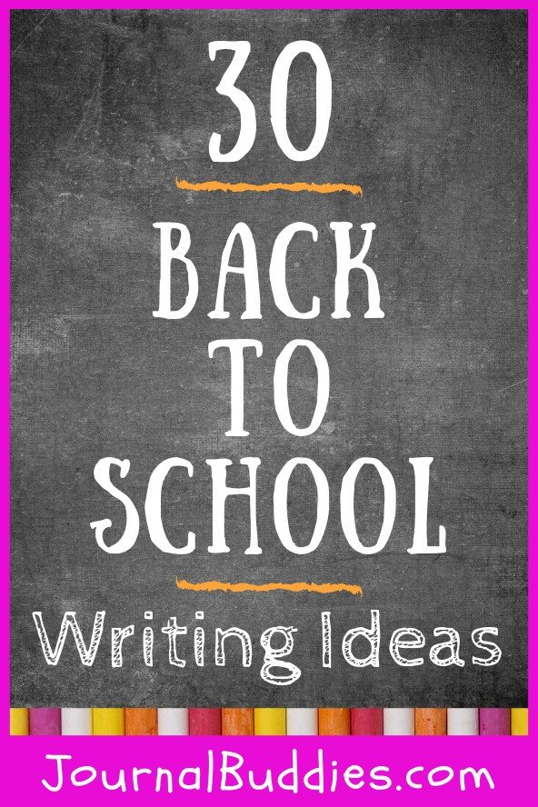 The following list of back to school writing ideas for kids provides some guidance as to what to write about as they embark on a new school year.