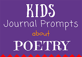 Kids Journal Prompts about Poetry