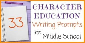 Character Education Writing Prompts