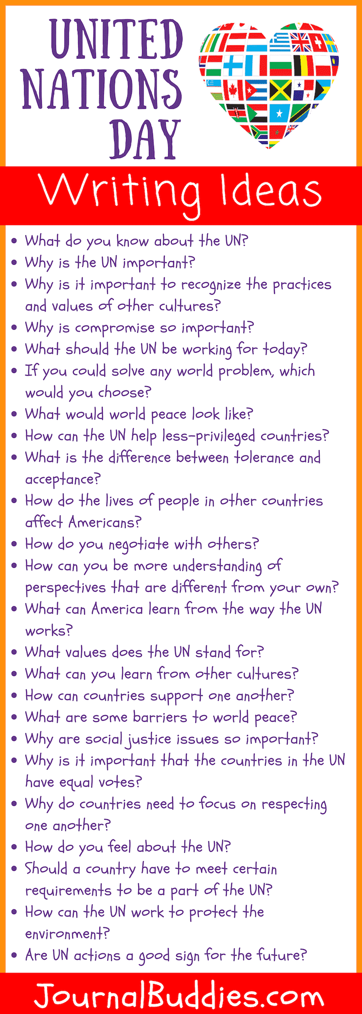 United Nations Day Writing Ideas and Journal Prompts