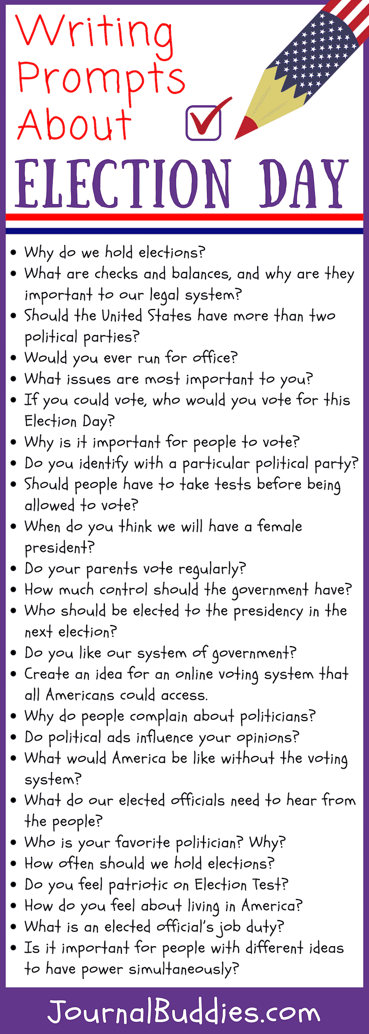 Writing Prompts for Election Day