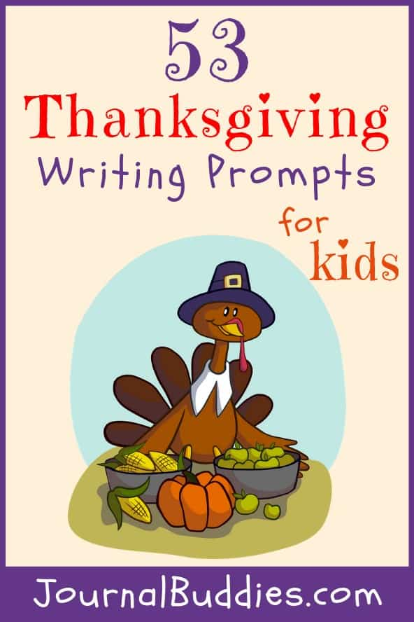 Thanksgiving Writing Ideas and Journal Starters for Students