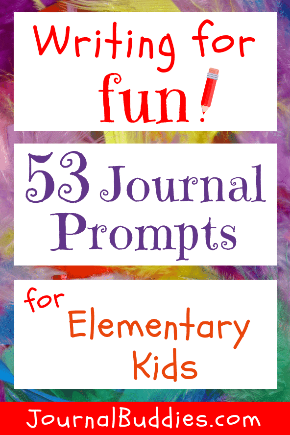 These 53 new writing for fun prompts for kids encourage creativity and promote fun!