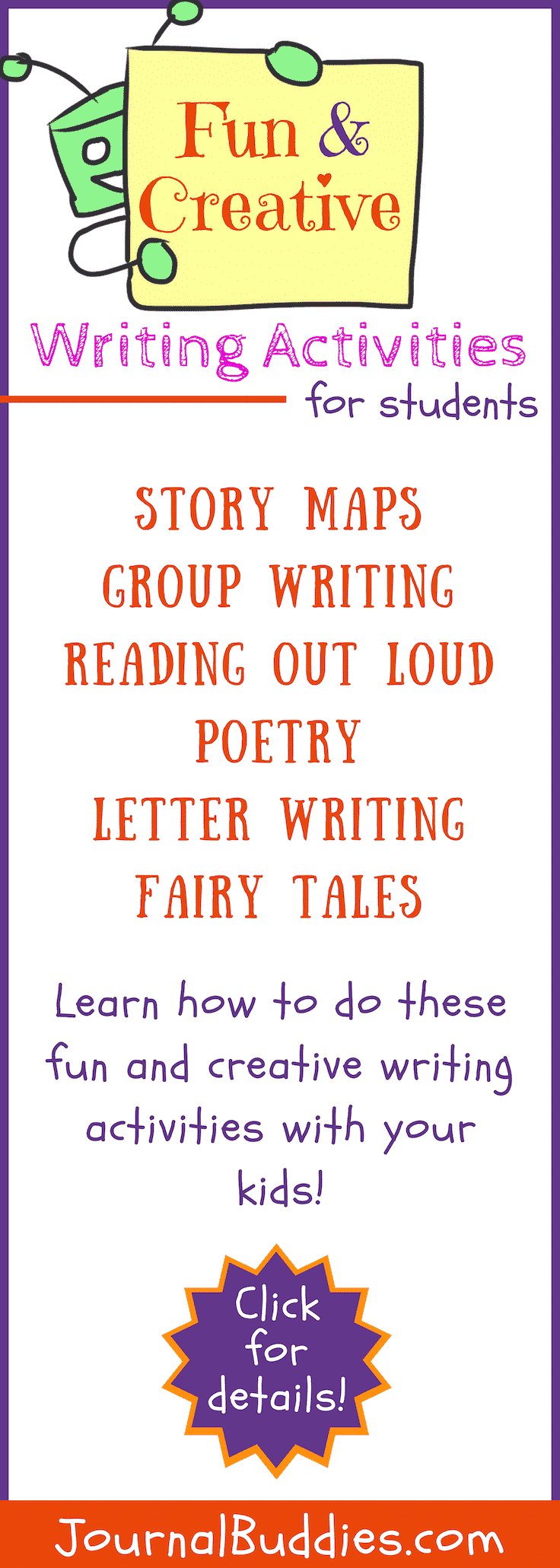 Creative writing activities are a wonderful way for students to get in tune with their own thoughts and learn to communicate more effectively!
