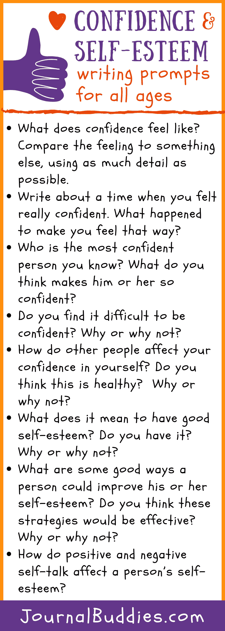 Writing Prompts to Boost Confidence