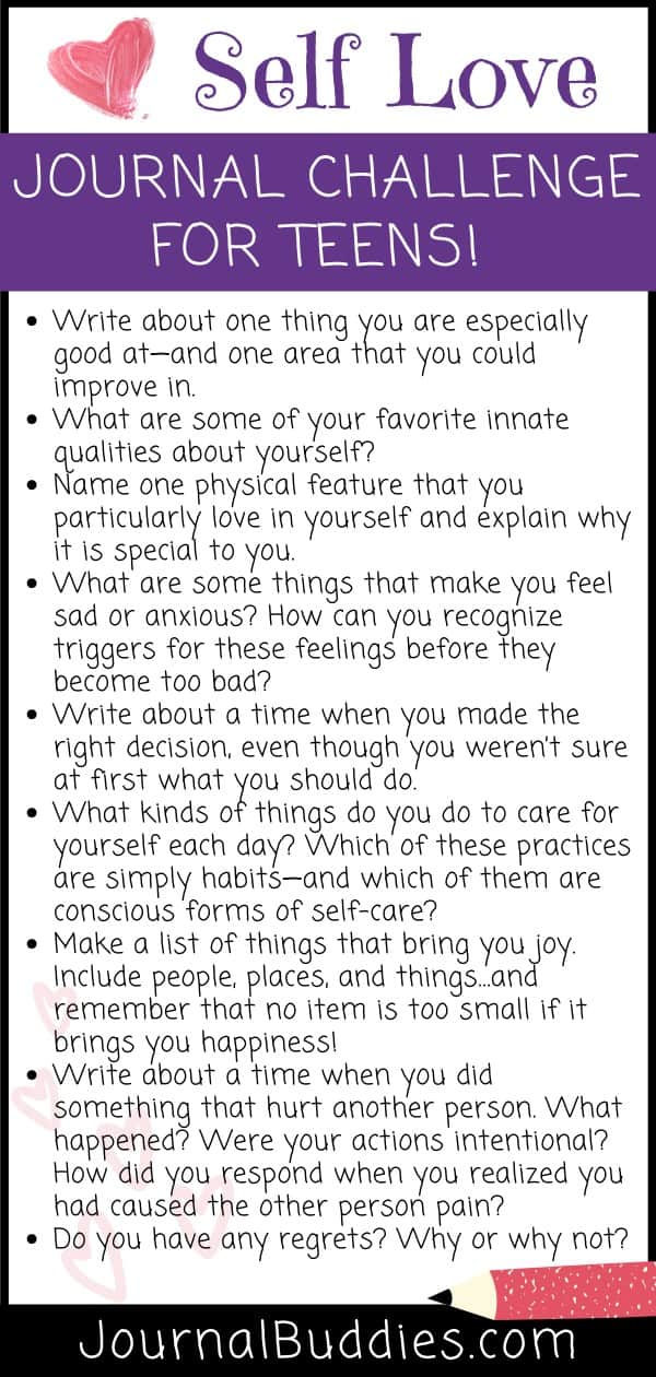 Self Love Journal Challenge for Teens