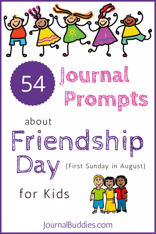 54 Friendship Day Journal Prompts for Kids