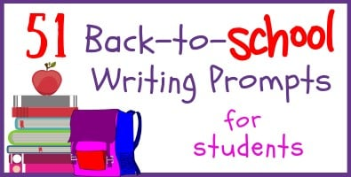 51 Back-to-School Writing Prompts for Students