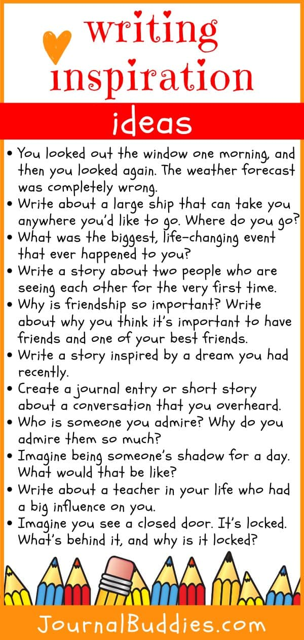 Writing Inspiration Ideas for Kids