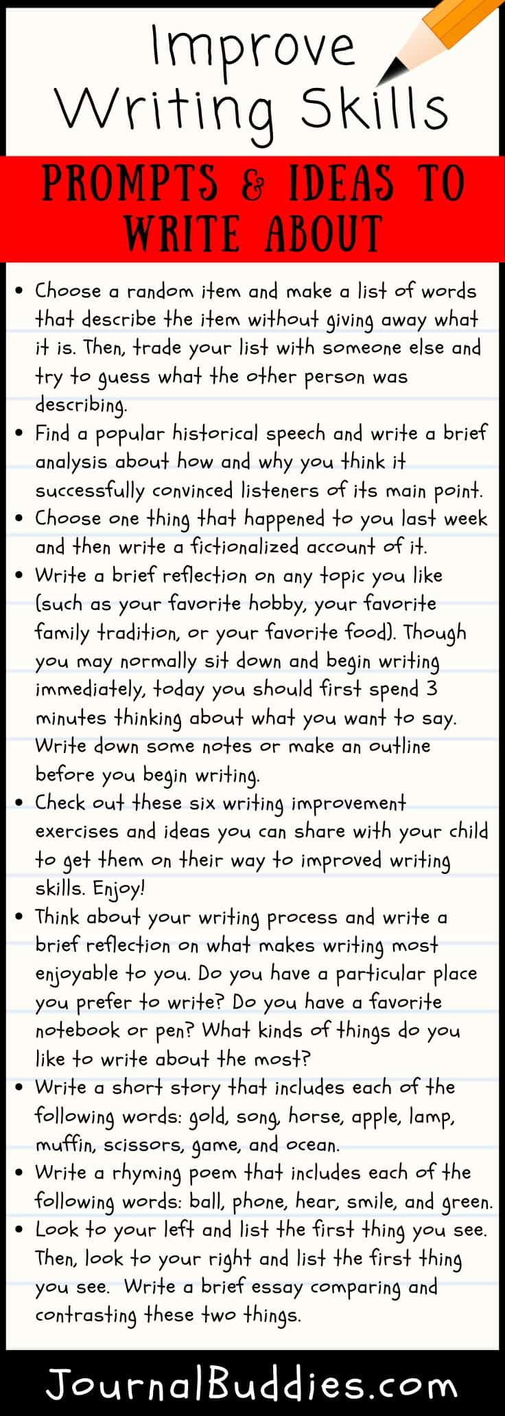 Writing Prompts to Improve Writing Skills