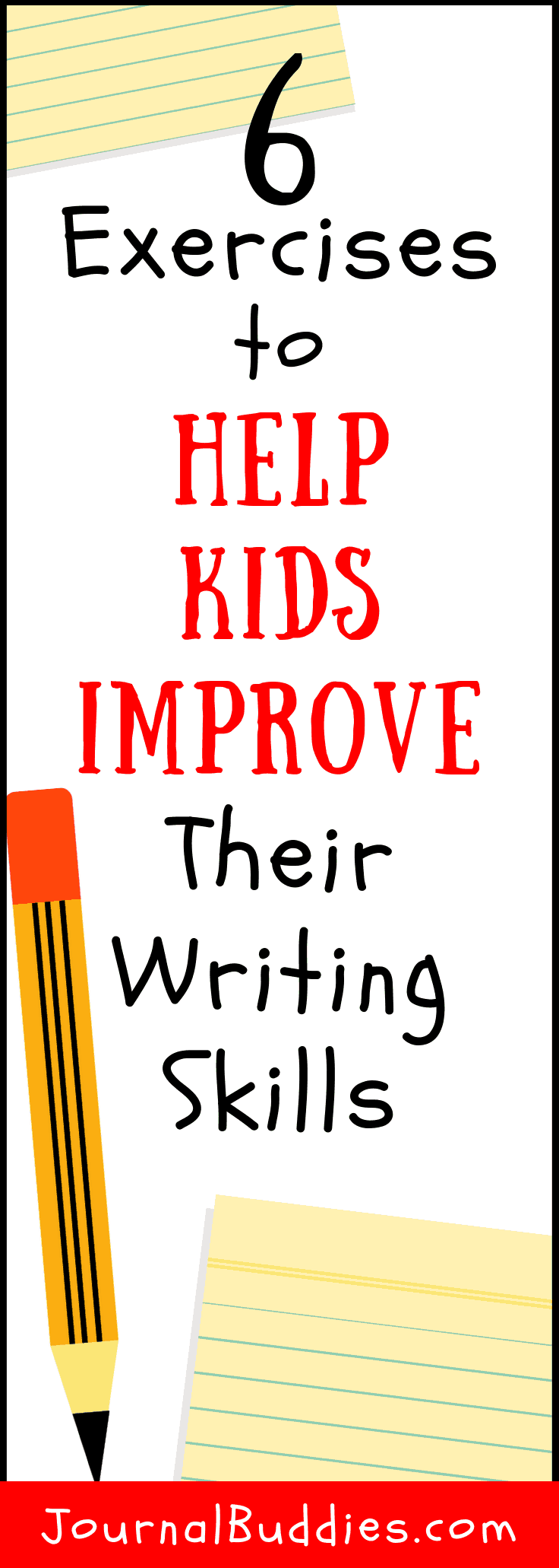 Check out these six writing improvement exercises and ideas you can share with your child to get them on their way to improved writing skills. Enjoy!