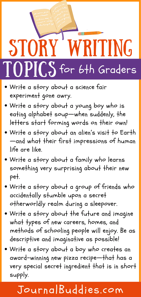 Grade 6 Story Writing Prompts