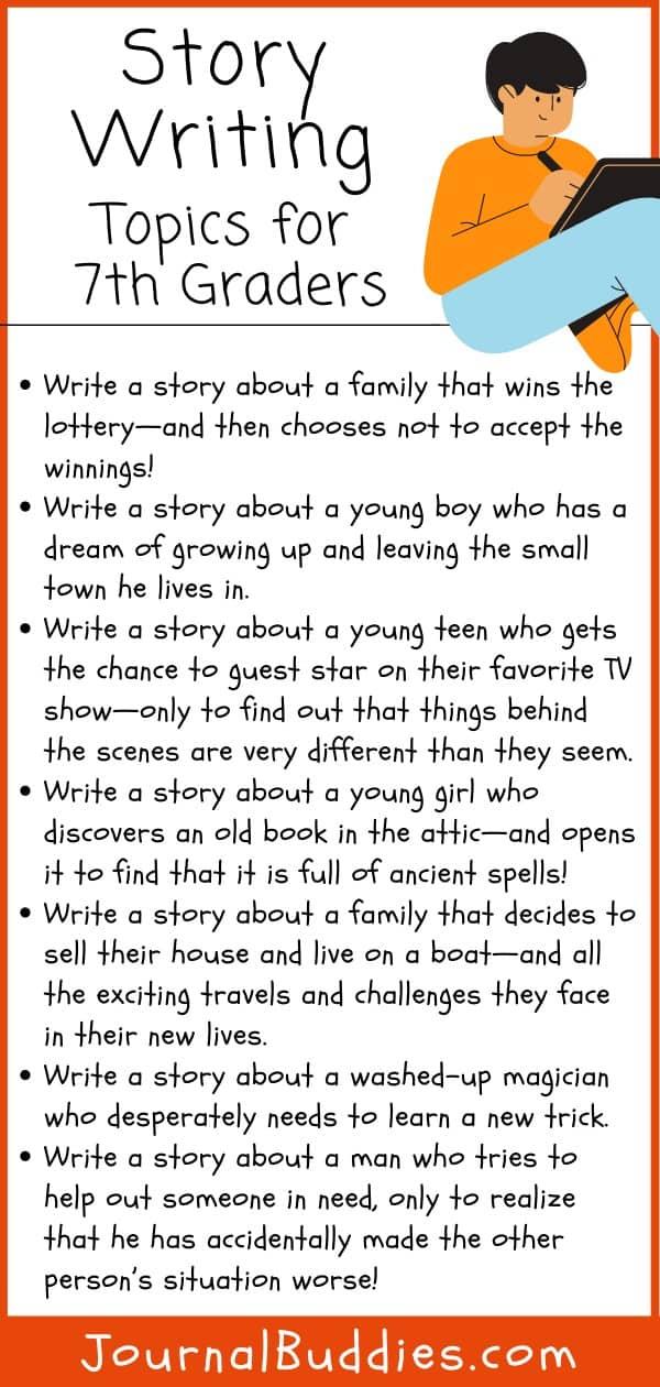 7th Grade Story Writing Ideas