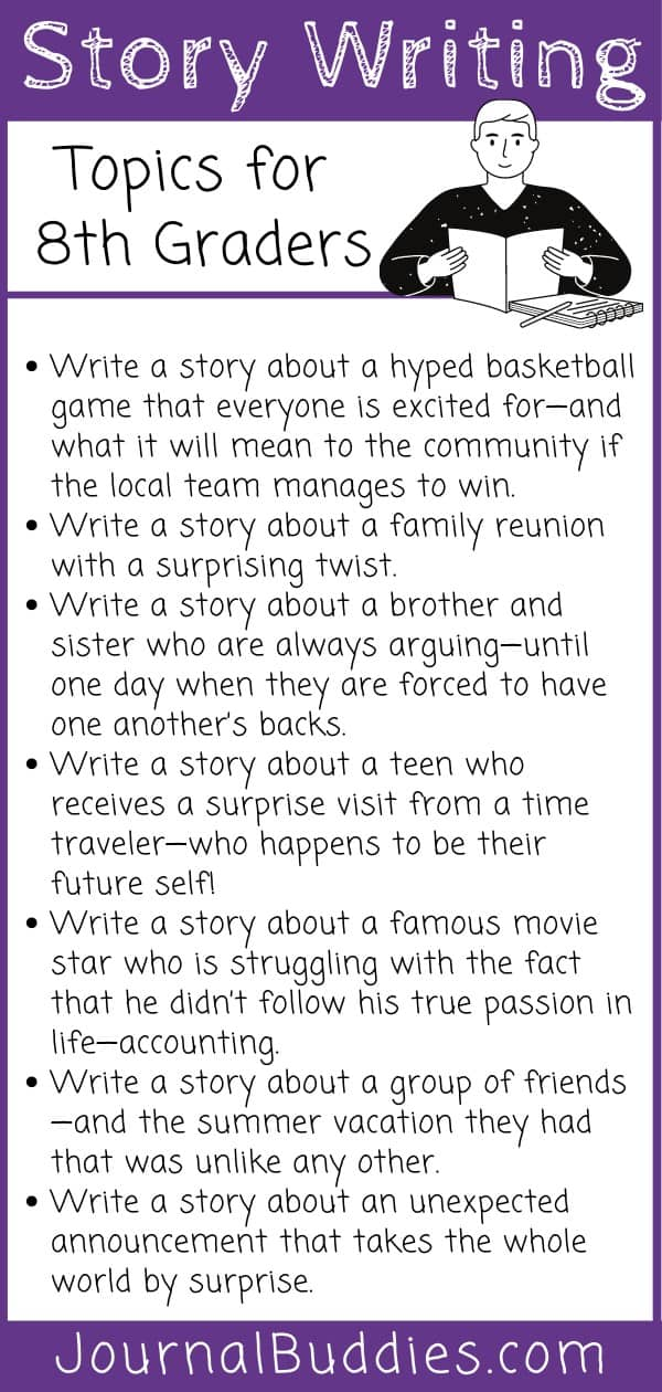 Grade 8 Story Writing Ideas