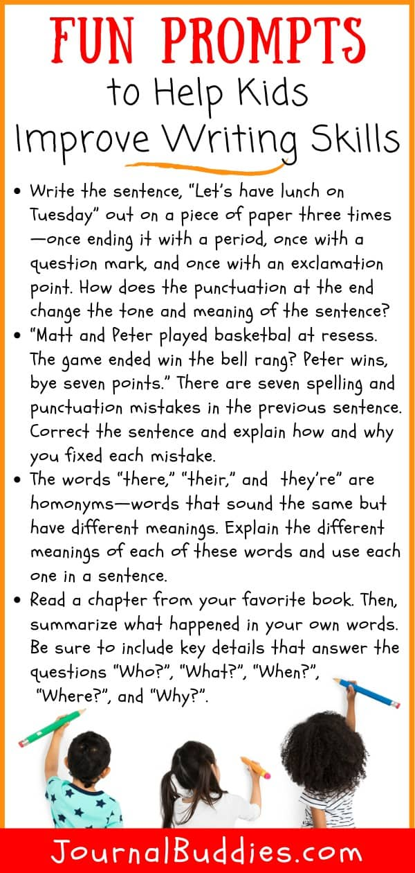 Basic Writing Skills Writing Prompts