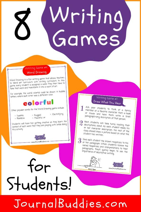 Discover fresh, fun, new writing games and use them to help students improve their writing skills while also enjoying themselves! These writing games are perfect for 4th – 6th grade students although they may certainly be used with younger elementary kids as well as with older middle school students.