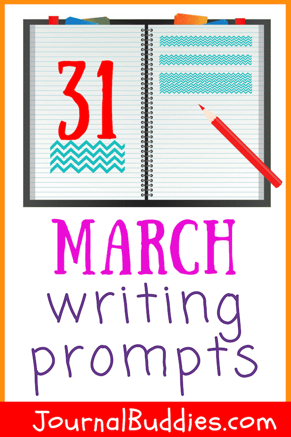 Character Development Writing Prompts for Student for the Month of March