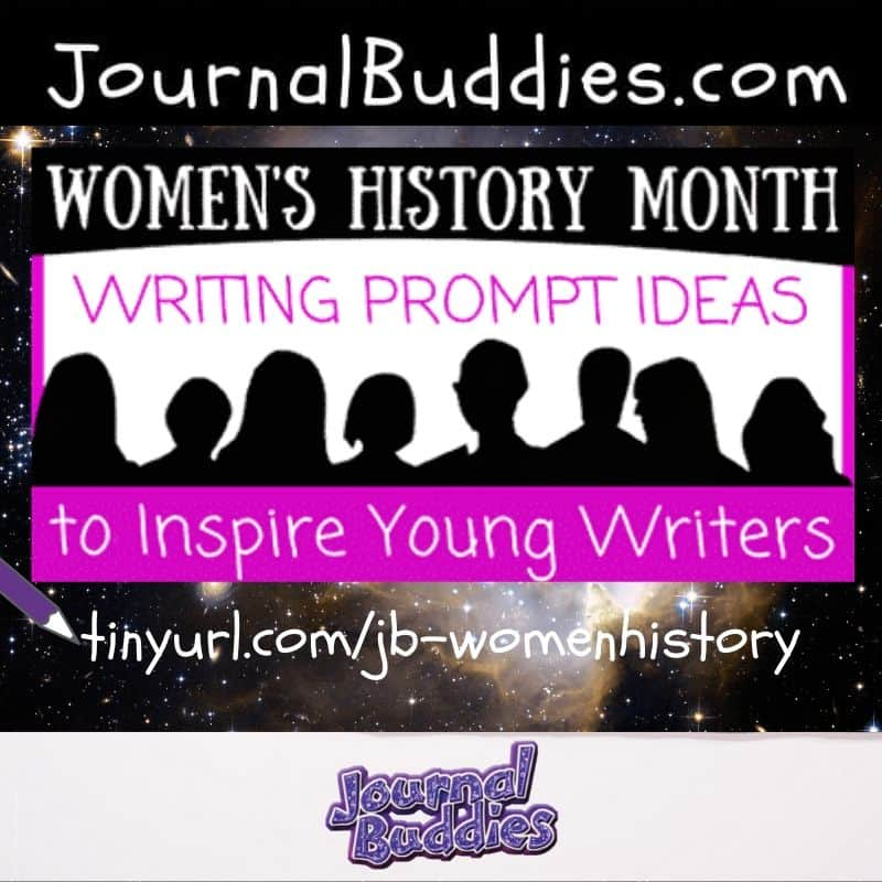 Yes, you can easily teach kids about women's history. ⁣⁣ ⁣⁣ Just use these journal prompts to highlight the importance of Women in History and to encourage kids to think more about the challenges that women still face today.⁣⁣ ⁣ Link in bio or visit tinyurl.com/jb-womenhistory⁣ ⁣⁣ #womenshistory #womenshistorymonth #celebratewomen #journalbuddies
