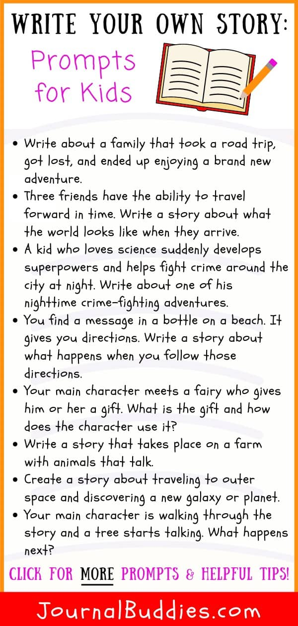 Write Your Own Story Writing Prompts and Tips for Kids